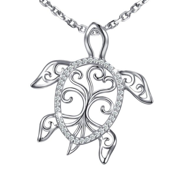 collier pendentif tortue en argent