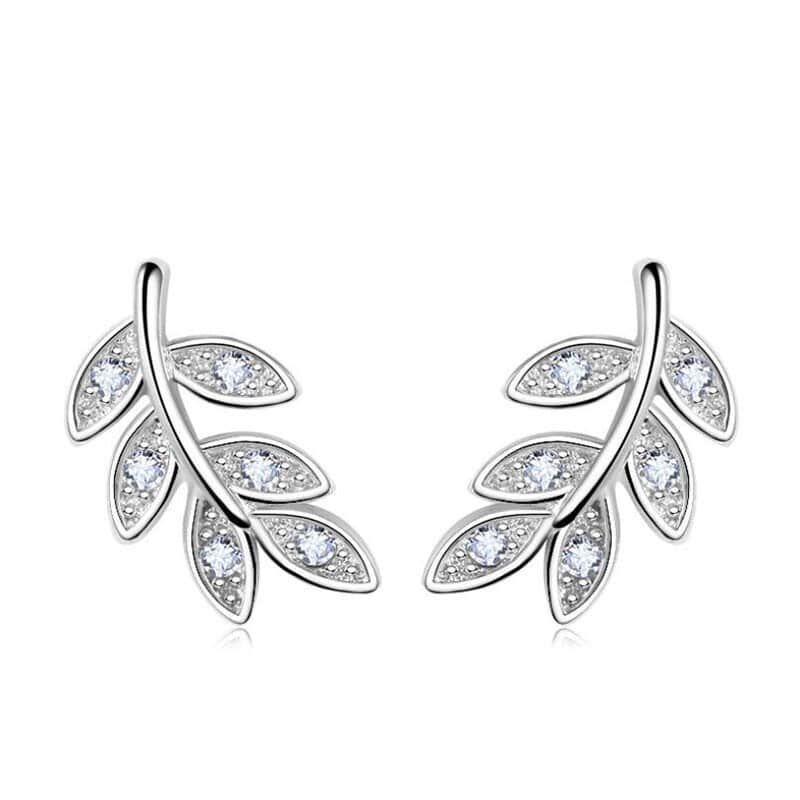 Boucles d'oreilles feuilles de laurier