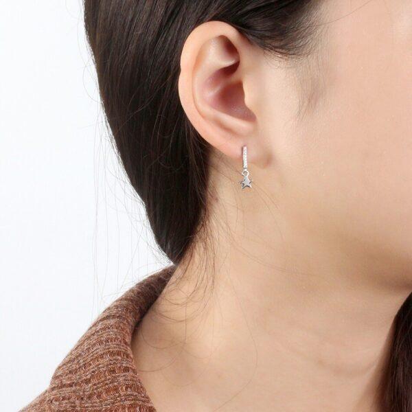 boucles d'oreilles fines étoiles en argent