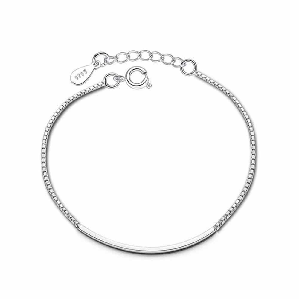 bracelet tube en argent