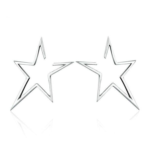 clous d'oreilles étoiles ajourées