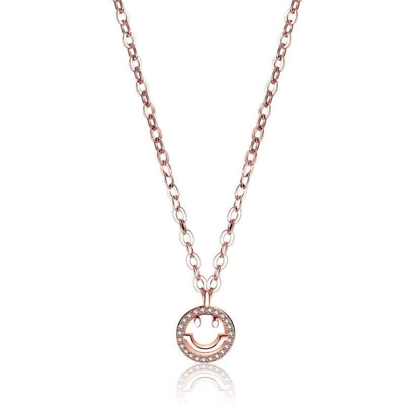 collier happy smiley or rose