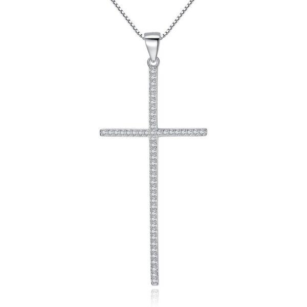 pendentif croix longue et fine