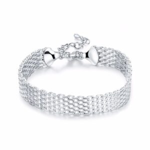 bracelet mailles plaqué argent