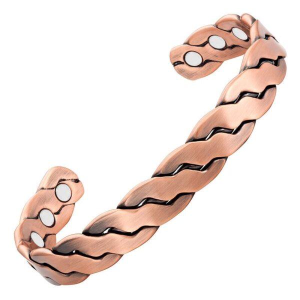 Bracelet en cuivre magnétique 6 aimants