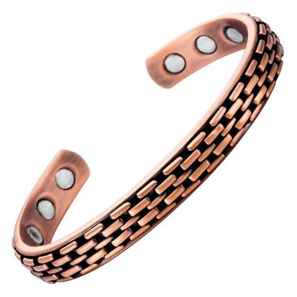 bracelet en cuivre strié
