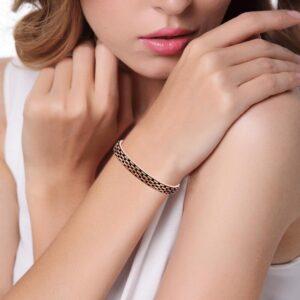 bracelet en cuivre strié pas cher