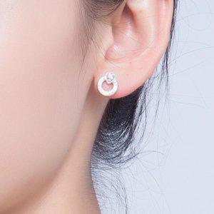 Boucles d'oreilles rondes argent pas cher