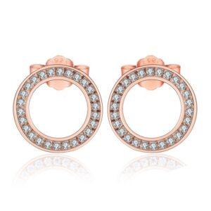 boucles d'oreilles cercles ajourées argent plaqué or rose