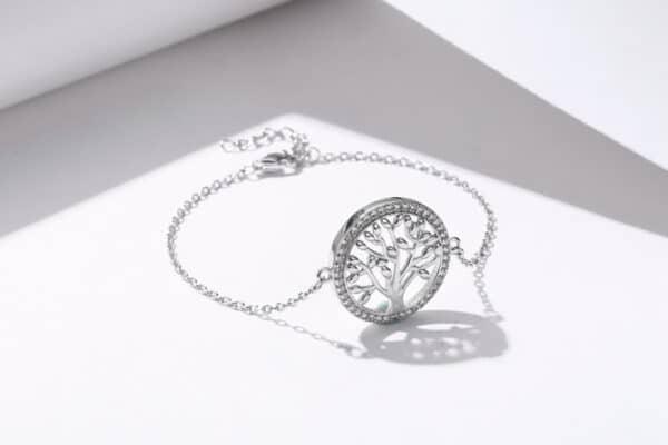 bracelet arbre de vie argent massif femme