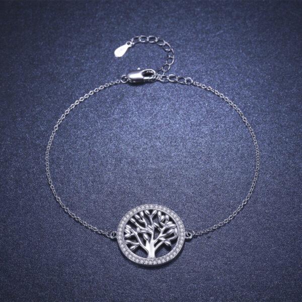 bracelet arbre de vie argent massif femme pas cher$