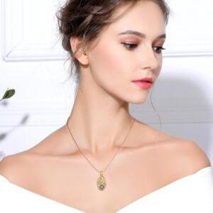pendentif vintage femme plaqué or