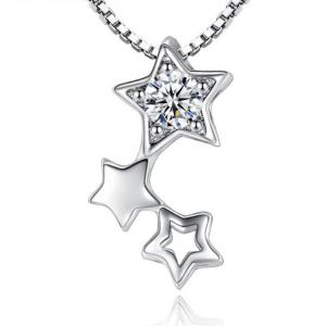 pendentif trio d'étoiles