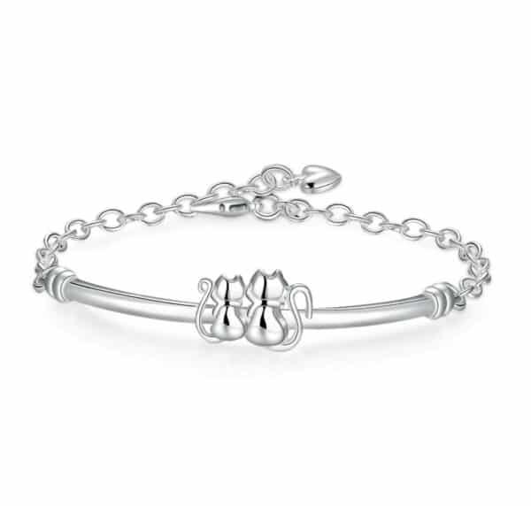 bracelet chat semi rigide pour fille
