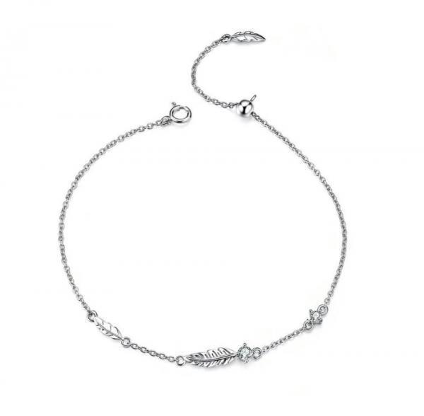 bracelet feuille femme argent 925